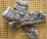 Вязание спицами. Женские носки со скандинавским орнаментом 1