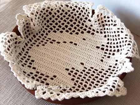 Вязание крючком - салфетка к пасхе
