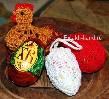 Вязание спицами к Пасхе. Как обвязать пасхальные яйца